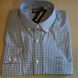 Claiborne - Slim Fit Shirt (Blue/Lt. Blue Plaid)